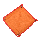 Square Travel Tray in Orange / Orange