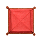 Square Travel Tray in Brown / Red