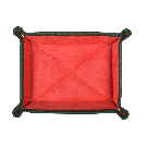 Small Travel Tray in Green / Red