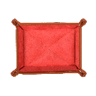Small Travel Tray in Brown / Red