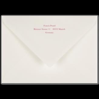 Matching Printed C6 Envelopes