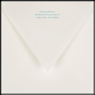 Matching Printed Square Envelopes