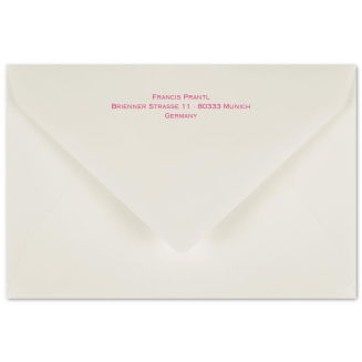 Matching Printed B6 Envelopes