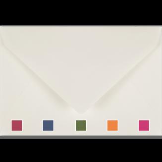 Plain Vellum White Envelopes with Coloured Tissue Lining