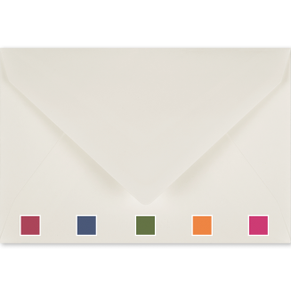 Matching Plain Envelopes with Coloured Tissue Lining