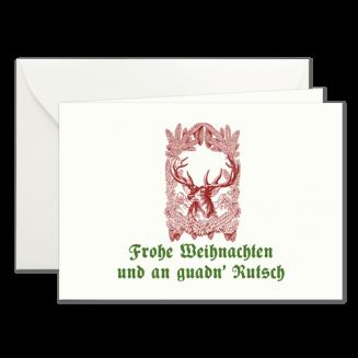 Weihnachtskarten mit Jagdmotiv