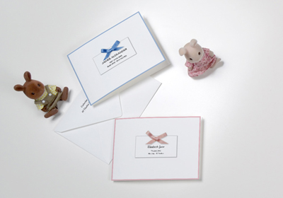 Birth Announcements with Ribbons