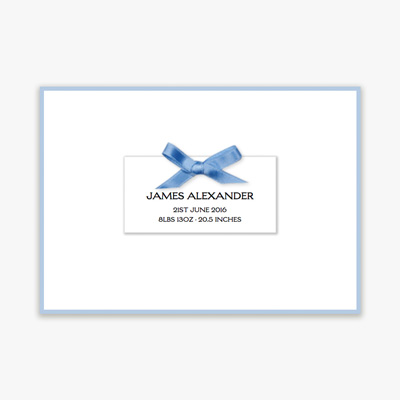 Birth Cards with Ribbon
